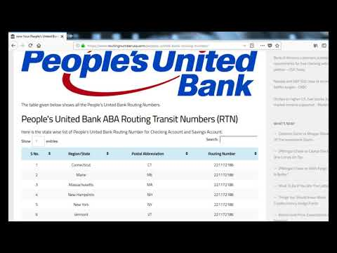How To Find People's United Bank Routing Number?