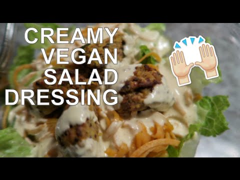 RECIPE: Creamy Vegan Salad Dressing made w/ Cashews