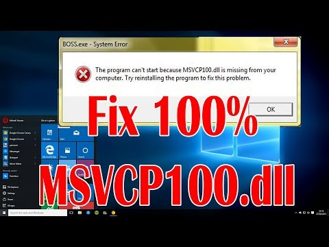 How To Fix MSVCP100.dll Missing Error Working 100% Windows 7, 8, 8.1, and 10
