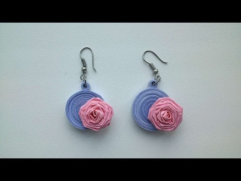 How To Make Paper Rose Earrings - DIY Crafts Tutorial - Guidecentral