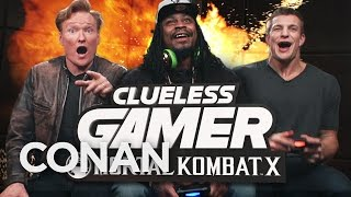 "Marshawn Lynch and Rob Gronkowski Play ""Mortal Kombat X"" With Conan O"