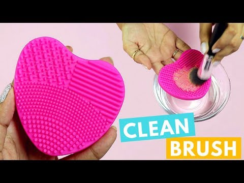 How To: Clean Make Up Brushes Using Nykaa Brush Cleaner