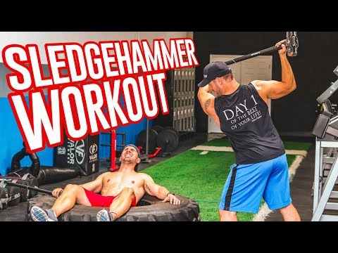 ULTIMATE Sledgehammer Workout (5 TOTAL BODY Exercises)