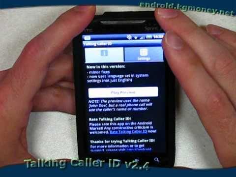 Talking Caller ID v2.4 --- Android Ringtone that Speaks Caller ID