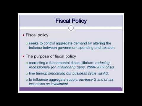 fiscal policy: introduction and statistics