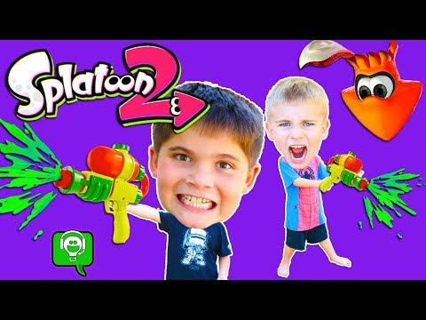 We Get PAINTED + Splatoon 2 Video Game! HobbyKidsGaming