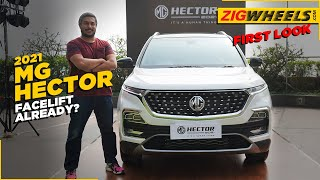 MG Hector Facelift Unveiled | Neat Nip & Tuck Is Refreshing? | ZigWheels.com