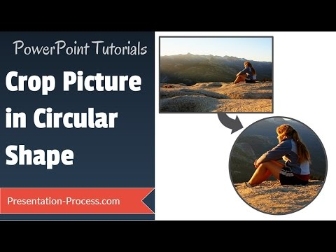 PowerPoint Crop Picture in circular shape : Effects Series