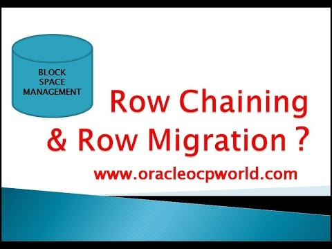 Row chaining and Row Migration Management