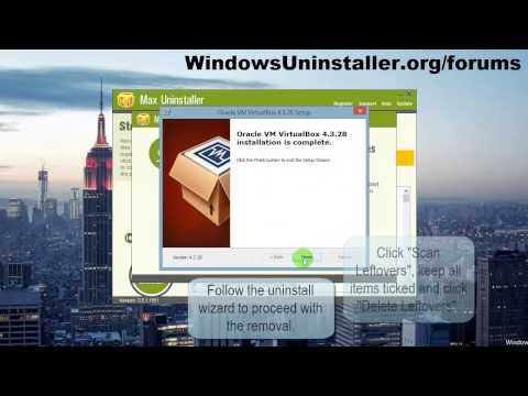 How to Uninstall Oracle VM VirtualBox