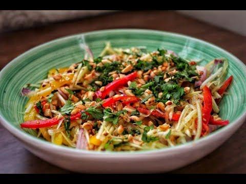 How To Make Thai Raw Mango Salad | Thai Recipes
