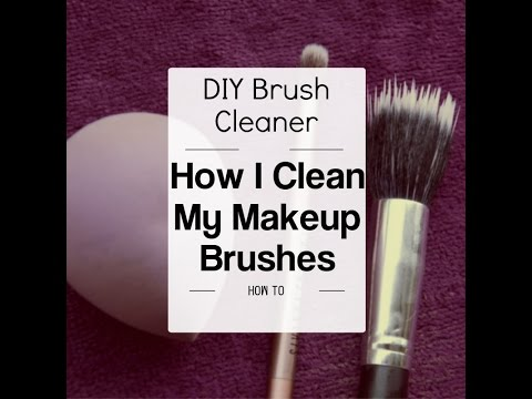 How To Clean Makeup Brushes | DIY Brush Cleaner