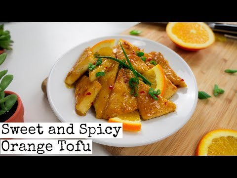 Sweet and Spicy Orange Tofu