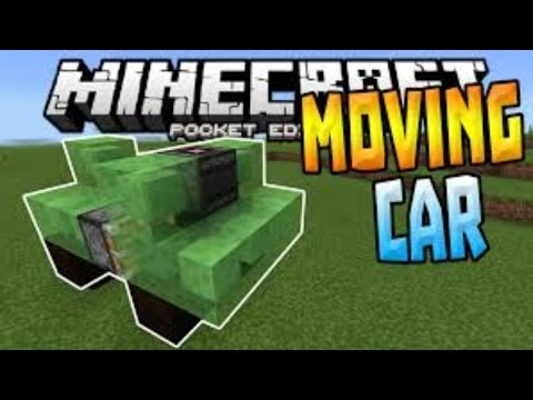Minecraft | HOW TO MAKE A MOVING CAR IN MINECRAFT PE 15.0