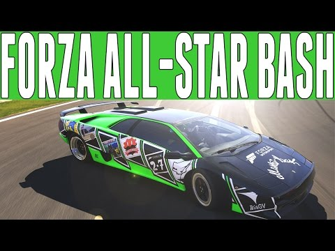 Forza All Star Bash Highlights : Biggest Youtuber Lobby - Drifting, Drag Racing, OffRoading, & More!