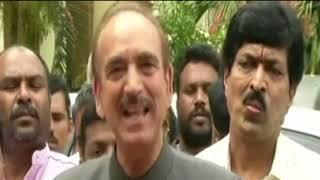 Ghulam Nabi Azad addresses the media on Karnataka election results 2018