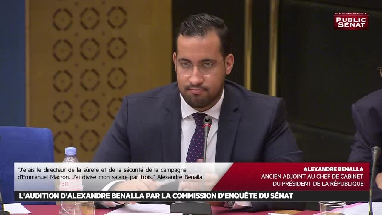 Intégrale : Audition d'Alexandre Benalla, ancien chargé de mission à l'Élysée