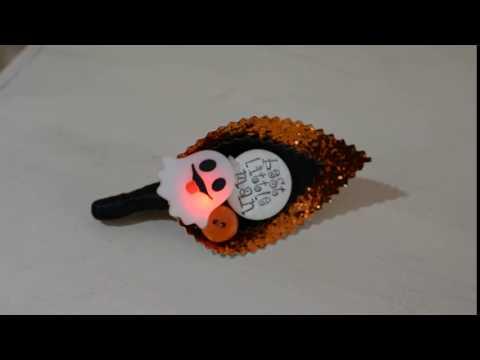 Flashing/ Light Up Best Little Man Halloween Buttonhole