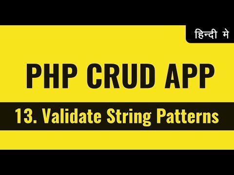 Validate string patterns using regex | Learn PHP in Hindi Urdu | vishAcademy