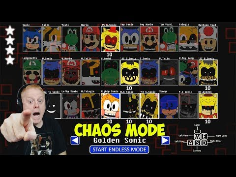 SONIC'S PIZZERIA SIMULATOR CHAOS MODE - GOLDEN SONIC MODE | GOING FOR OUR 5TH STAR!!