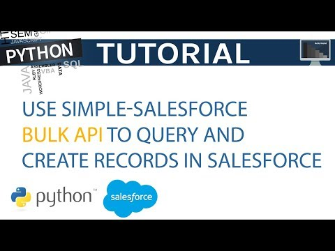 Use Simple Salesforce Bulk API to Query and Create Records in Python | Python Tutorial