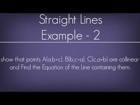 Straight Lines Example - 2 l Maths Geometry