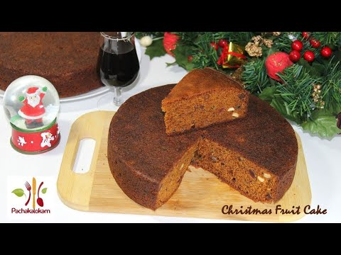 Perfect Christmas Fruit Cake | Kerala Plum Cake with Wine | Xmas Fruit Cake By Pachakalokam