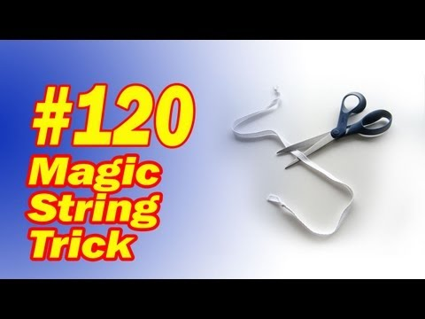 Magic String Trick - Easy Cut And Restored Rope Trick