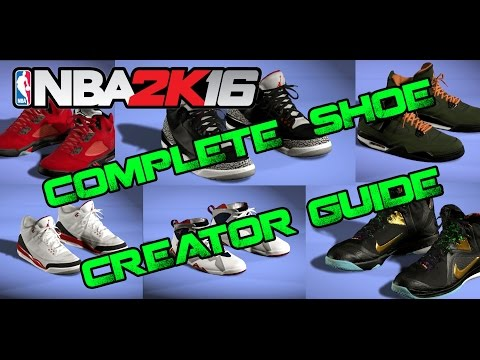 NBA 2K16 | COMPLETE SHOE CREATOR TUTORIAL