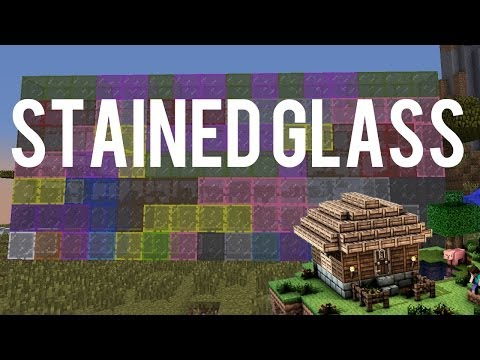How To Make And Use Stained Glass And Stained Glass Panes Minecraft - Minecraft 1.7.2 Update