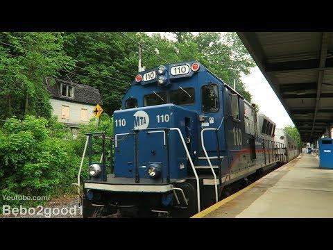 Metro-North Danbury Trains at Branchville, CT RR (BL20GH/P32)
