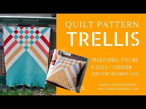 Trellis quilt pattern - beginner modern quilt