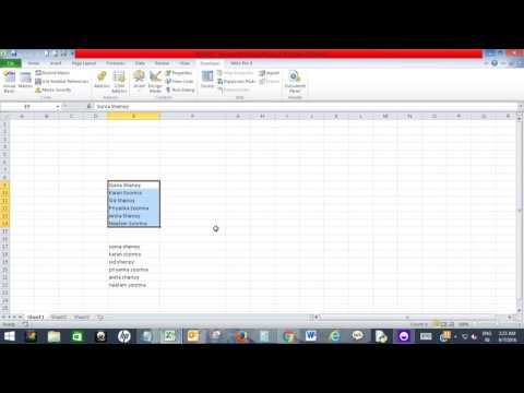 Convert a range into Proper case in Excel using VBA