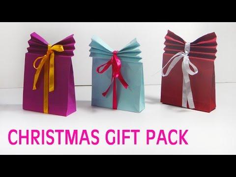 Simple Christmas Gift Bag | Making of Christmas Gifts | Diy Christmas Gift Box