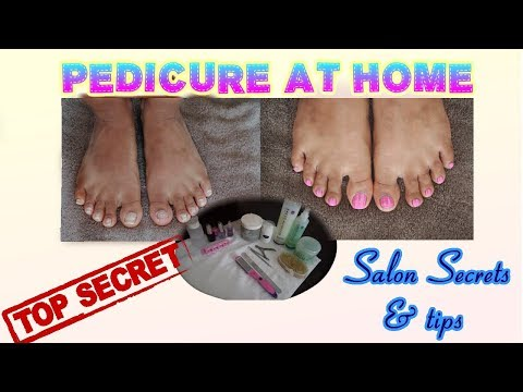 How to do a Spa Pedicure Home 20min EASY step by step | tan removal whitening nail therapy