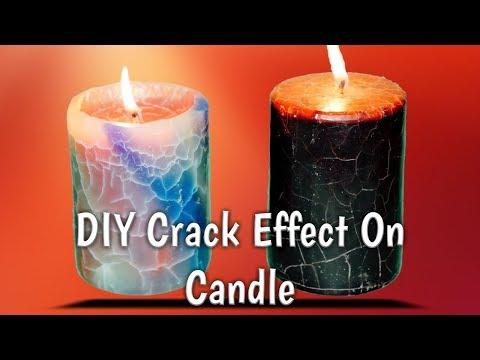 Crack Effect On Candle Tutorial | DIY Designer Candle Making | Advance Candle Making Technique