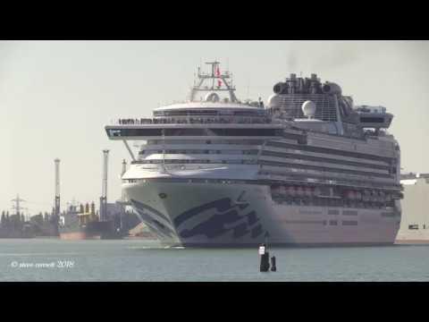 Princess Cruise Ship 'Sapphire Princess' Maiden Cruise from Southampton 05/05/18