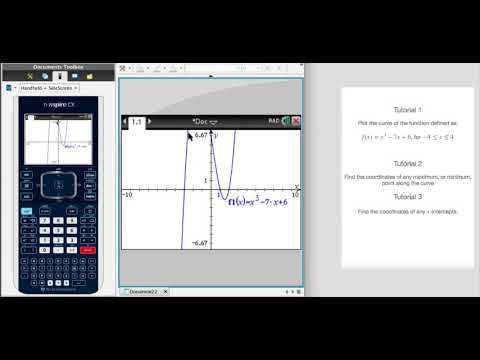 How to plot a function's curve and adjust the window size with the TI NSpire CX