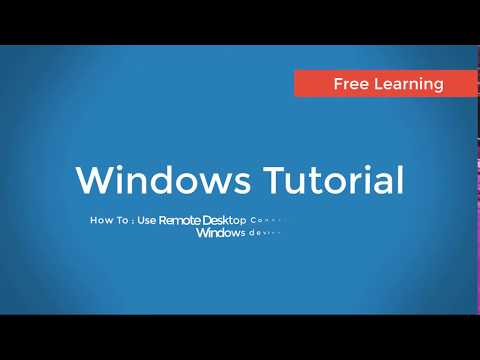 How To : Set Up Remote Desktop Connection
