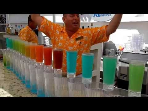 Rainbow Shots at Secrets Resort