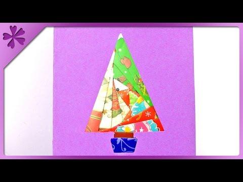 DIY Iris folding Christmas card (ENG Subtitles) - Speed up #152