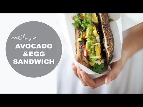 AVOCADO EGG SANDWICH | HEALTHY LUNCH