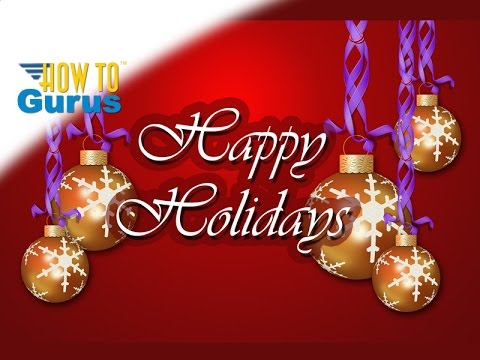 How to make a Christmas Ornament Card completely in Photoshop Elements 2018 15 14 13 12 11 Tutorial