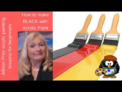 How to Make BLACK with Acrylic Paint to enhance your paintings..