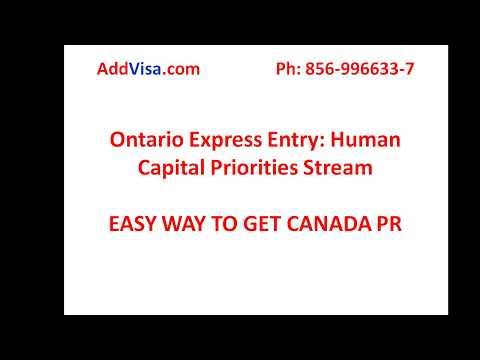 Canada PR OINP (Ontario Immigration Nomination programme)