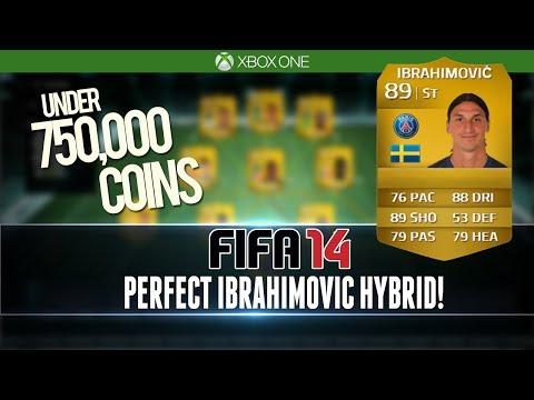 PERFECT IBRAHIMOVIC HYBRID for UNDER 750k!   FIFA 14 Squad Builder #97