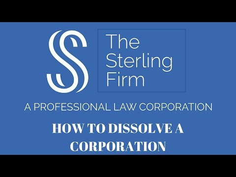 HOW TO DISSOLVE A CORPORATION