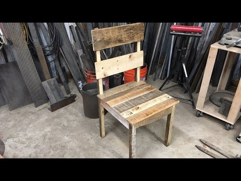 Making a Rustic/Reclaimed, Pallet Wood Chair