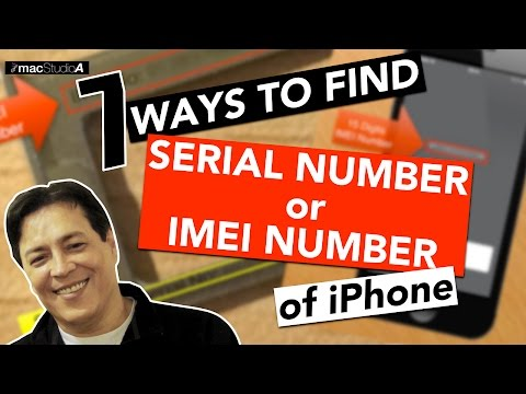 How To Find Serial Number or IMEI Number of iPhone
