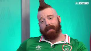 WWE Super Star Sheamus calls out Wayne Rooney ahead of the WWE
